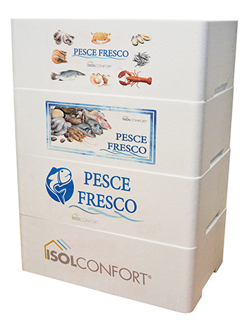casse isotermiche cassette in polistirolo per pesce e trasporto alimenti freschi Isolconfort