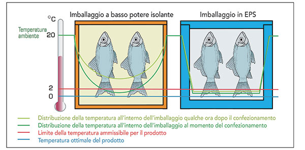 isolamento cassette per pesce confronto contenitori termici