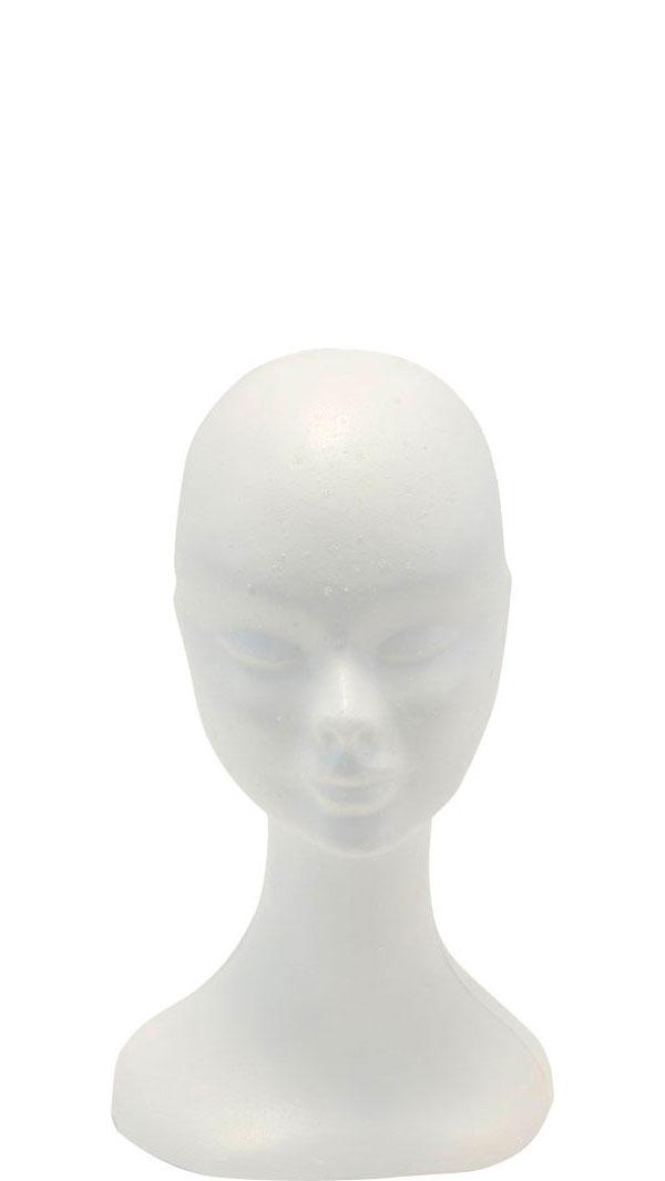 manichino testa di polistirolo bianco donna belfagor