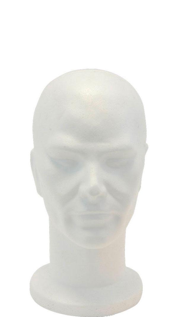 manichino testa polistirolo uomo